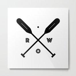 Rowing x Oars Metal Print