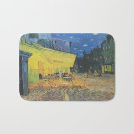 Vincent can Gogh's Cafe Terrace at Night Bath Mat