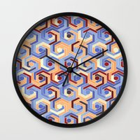 60s Wall Clocks featuring Back in the 60s terra by MehrFarbeimLeben