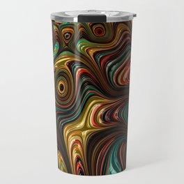 Trippy Fractal Travel Mug