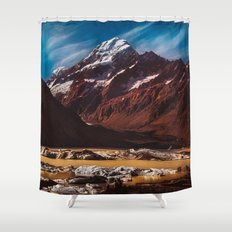 South Island Glacier Shower Curtain