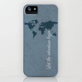 Let the adventure begin iPhone Case