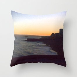Seafront sunset Throw Pillow