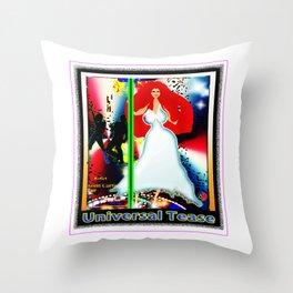 UNIVERSAL TEASE Throw Pillow
