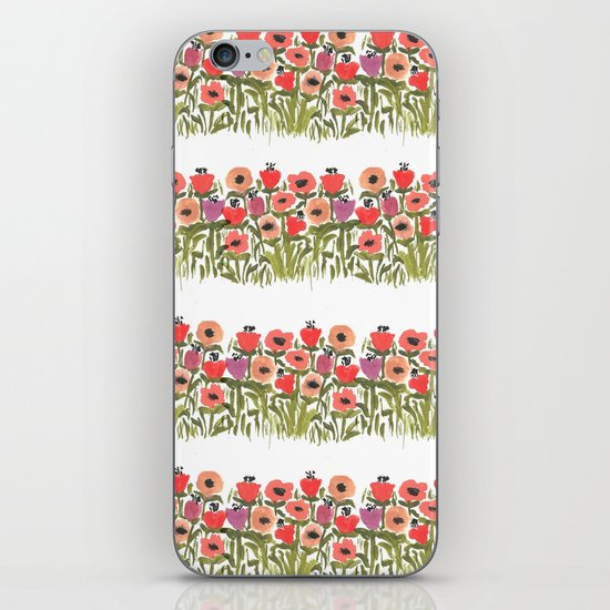 Flower stripe garden iPhone & iPod Skin