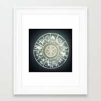 "zodiac Framed Art Prints featuring ""Zodiac"" by DiegoC"