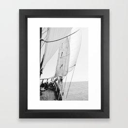Away We Sail Framed Art Print