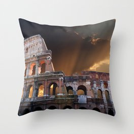 The Coliseum of Ancient Rome Throw Pillow