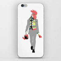 rooster iPhone & iPod Skins featuring Rooster by Nathalie Otter
