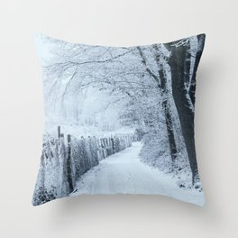 Return to the Snowy Forest Throw Pillow
