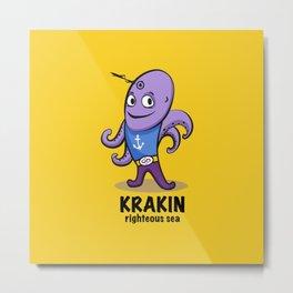 krakin righteous sea Metal Print