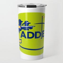 Caddie and Golfer Golf Course Icon Travel Mug