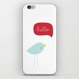 Hello Birdie iPhone Skin