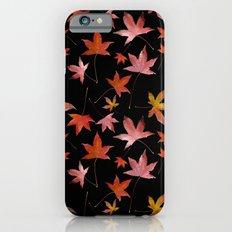 Dead Leaves over Black iPhone 6s Slim Case