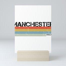 Manchester Vintage Print, England Souvenir & Gift Product Mini Art Print