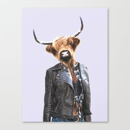 Cow Girl Canvas Print