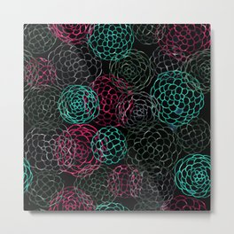 Seamless Patern Painting [LIGHT BLUE | PINK] Metal Print