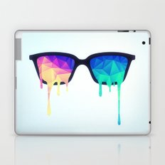 Psychedelic Nerd Glasses with Melting LSD/Trippy Color Triangles Laptop & iPad Skin