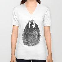 phoenix V-neck T-shirts featuring Phoenix by pakowacz