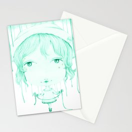 Monochrome Love: Green Stationery Cards