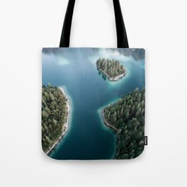 Lakeside Views at Sunset - Landscape Photography Tote Bag