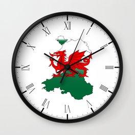 Wales and the Dragon Wall Clock