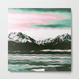 Viridescent Mountains Metal Print