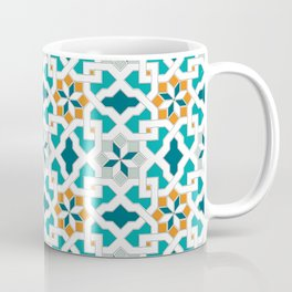 Geometric Pattern, oriental style (blue color set)  traditional morocco tile pattern Coffee Mug
