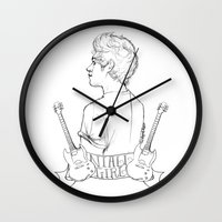 niall Wall Clocks featuring Niall Girl by Ashley R. Guillory