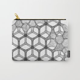 GEOMETRIC NATURE: COGNITIVE HEXAGON w/b Carry-All Pouch