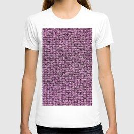 Purple Burlap Textile T-shirt