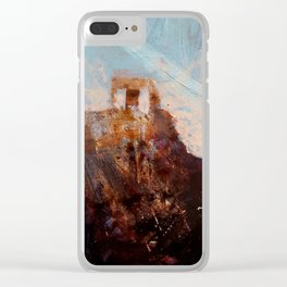 Ruins 1 Clear iPhone Case