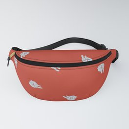 Cube Bunny Pattern - Red Fanny Pack
