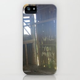 Rustic Engagement iPhone Case