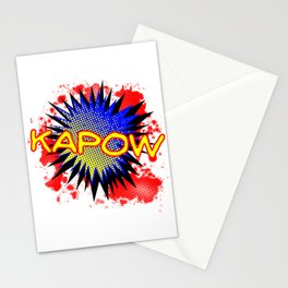 Kapow Comic Exclamation Stationery Cards