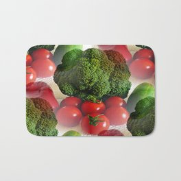 Healthy Vegetables Bath Mat
