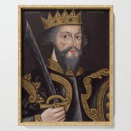 Vintage William The Conqueror Portrait Serving Tray