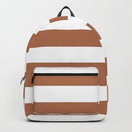 Brown sugar - solid color - white stripes pattern Backpack