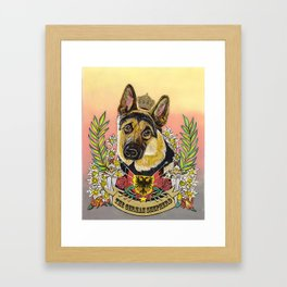 The German Shepherd Framed Art Print