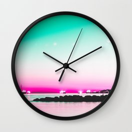 The Pink Hour Wall Clock