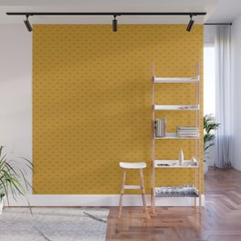 Dotted little fish on yellow Wall Mural