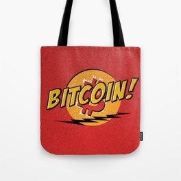 Bitcoin red Tataaa Tote Bag