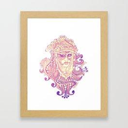 carnevale di venezia Framed Art Print