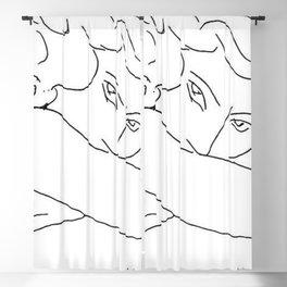 Henry Matisse - Jeune Femme Le Visage Enfoui Dans Les Bras - Young Woman with Face Buried in Arms portrait sketch painting Blackout Curtain