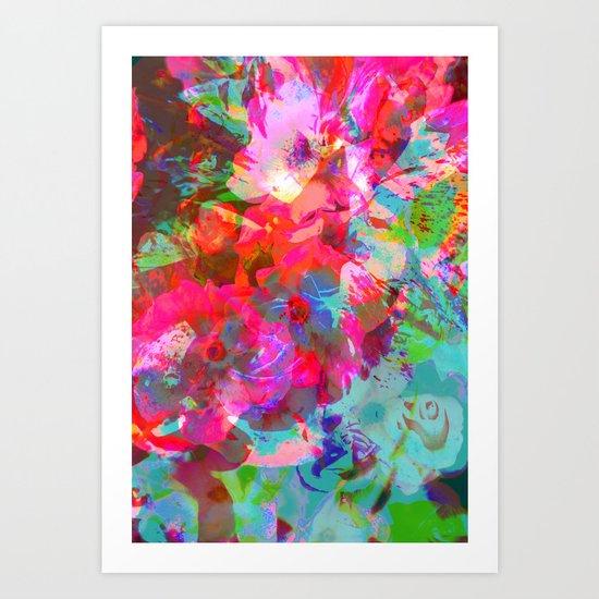NEON GARDEN Art Print