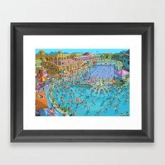 Szechenyi bath Budpest Framed Art Print