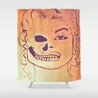 monroe Shower Curtains featuring Monroe  by Zero Two Thirteen