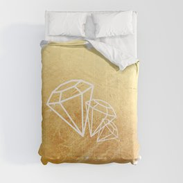 Faceted Gold Comforters