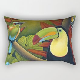 Tropical Birds Rectangular Pillow