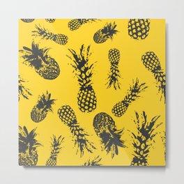 Pineapple Fiesta Metal Print